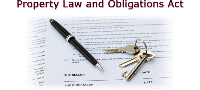 property law and obligations act